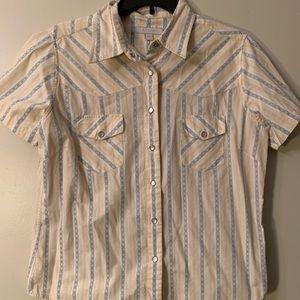 Women's Bogari Pearl Snap Shirt Large